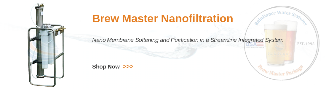 Nanofiltration and nano membrane water softening for craft breweries and beer makers.